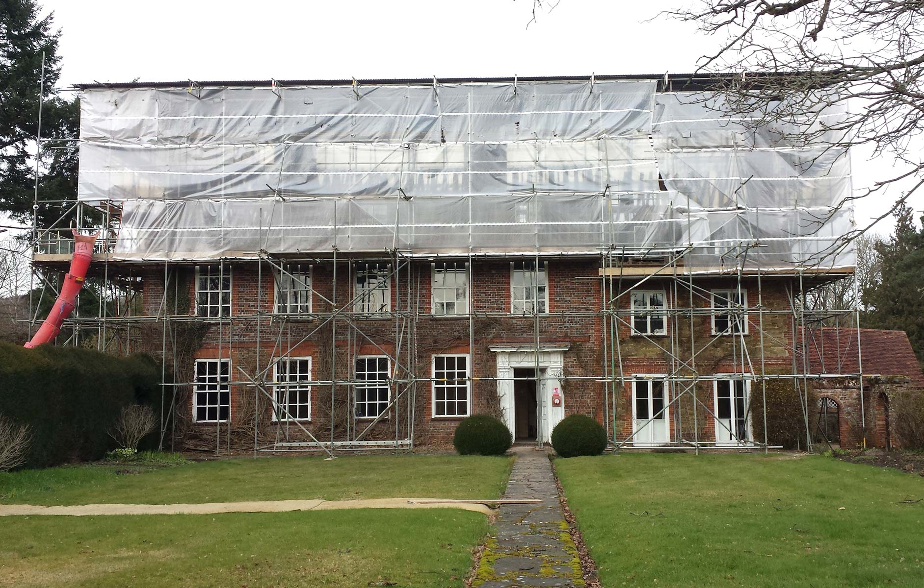 Grade 2 listed manor house work in progress KM Grant