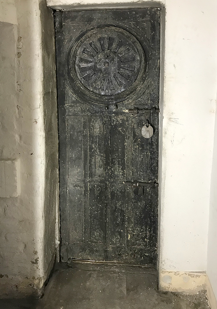 KM Grant cell door in prison governors house refurbishment